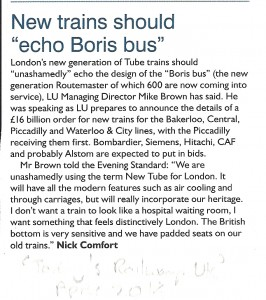 "New trains should ""echo Boris Bus"" (Today's Railways UK, April 2014)"